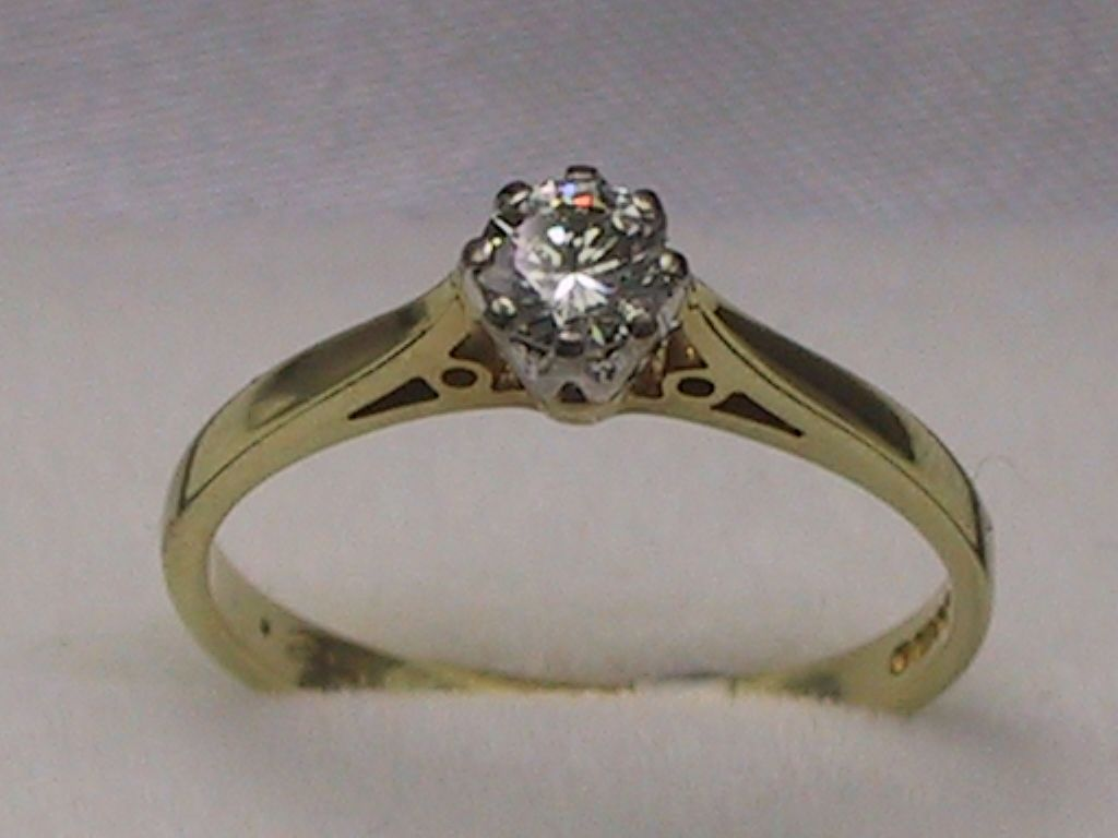set rings image engagement jewellery eternity carat diamond gold half yellow channel ring